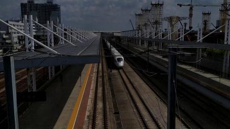 G85(上海虹桥—广州南)本务上局上海段,搭载CRH380BL型车底,高速通过广州北站