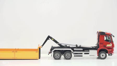 令人惊叹!德国奔弛6x6滚装车遥控模型的功能和细节