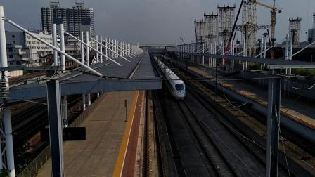 G6071(永州—福田)本务广铁长沙段,搭载CRH3C型重联车底,高速通过广州北站