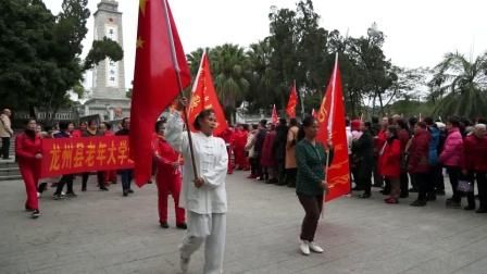 龙州县老年大学纪念百色起义、龙州起义90周年校外体验活动