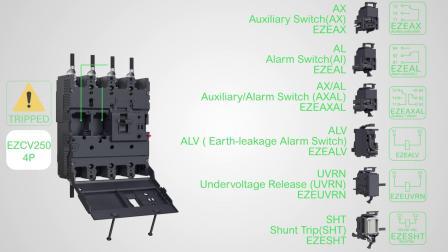 施耐德电气:断路器辅助开关与分励脱扣线圈安装-08