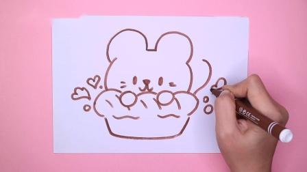 飞童亿佳儿童绘画 小老鼠爱吃大面包
