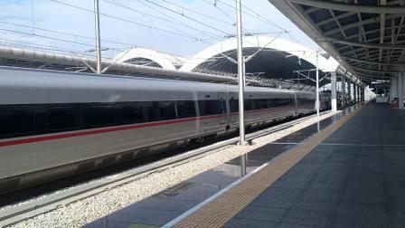 2020年9月12日,G320次(香港西九龙站-重庆西站)本务中国铁路广州局集团有限公司广州动车段深圳动车运用所CR400AF-A-2096佛山西站通过