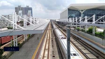 2020年9月20日,G6041次(娄底南站-深圳北站)本务中国铁路广州局集团有限公司广州动车段长沙动车运用所CR400AF-A-2097广州北站通过