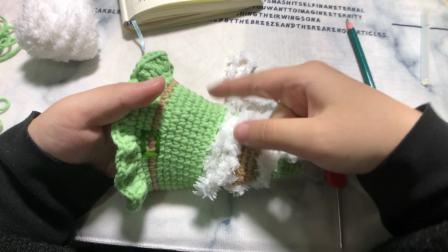 唯骛 圣诞帽生日帽 圣诞老人款 编织钩针视频教程