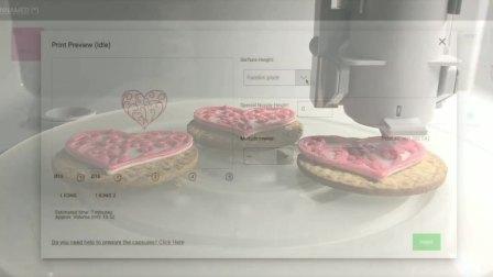 Foodini打印糖霜饼干系列:心形图案和漩涡图案   Icing cookies with Foodini:  Heart Swirls