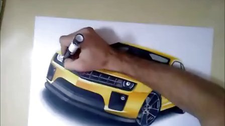 雪佛兰汽车马克笔手绘视频教程