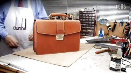 英国登喜路Dunhill手工皮包制作