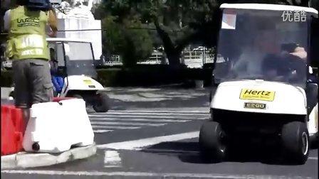 WRC2011葡萄牙站 众车手驾驶高尔夫车勘路