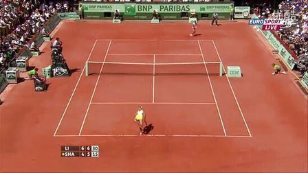 2011法国网球公开赛女单SF 莎拉波娃VS李娜 HL