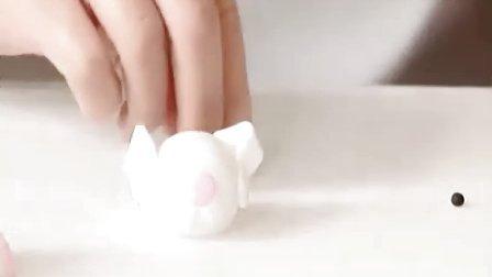 翻糖蛋糕制作教程之翻糖动物兔子制作