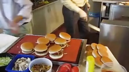 制作汉堡包视频