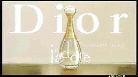 "Dior J'adore香水""金色女神""超模卡门·卡斯代言女香广告"
