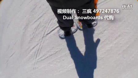 2012 02 滑雪 漂移雪板 dual snowboards 【大连漂移板友会】