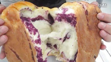 用凯伍德BM450面包机制作紫薯麻花辫面包