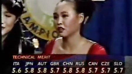 陈露1995年花样滑冰世锦赛《末代皇帝》(加打分)