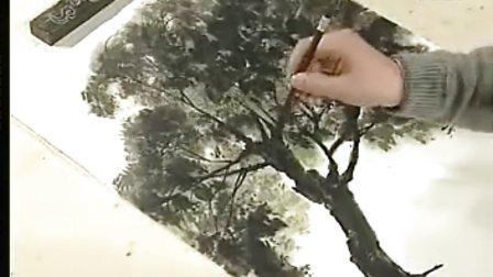 徐建明山水画法 2梧树、柳树