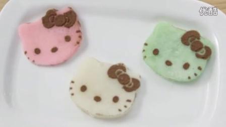 教你做超可爱的Hellokitty麻薯糕点 日本麻薯 点心 Hellokitty mochi