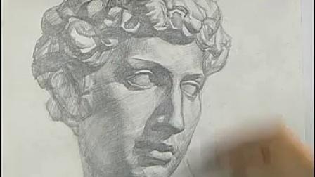 石膏像素描教程_标清