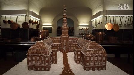 """【丹麦】巨大姜饼屋:""""议会大楼""""克里斯蒂安堡Christiansborg模型"""