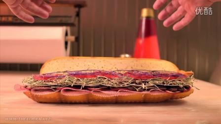 如此霸气的潜艇三明治有没有兴趣来一块