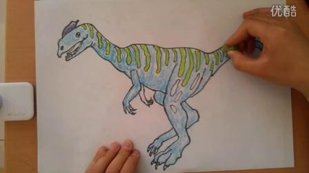 儿童画画恐龙3根李老师学画画