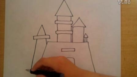 简笔画城堡的画法根李老师学画画
