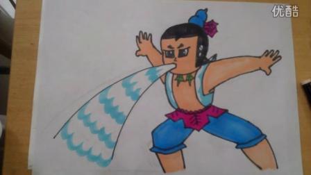 儿童画卡通画葫芦娃2根李老师学画画
