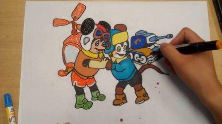 儿童画舒克和贝塔2根李老师学画画