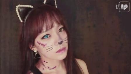 抹茶美妆:手残星人也能画好的万圣节猫女妆