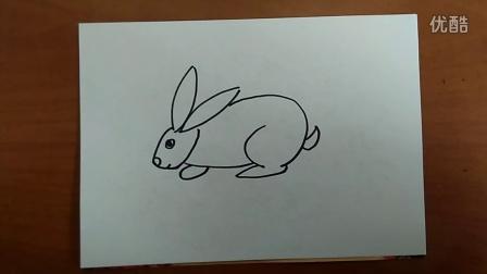 小兔简笔画跟李老师学画画