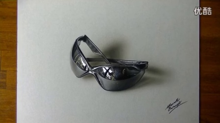 Drawing Time Lapse- my sunglasses - 3D Art_高清