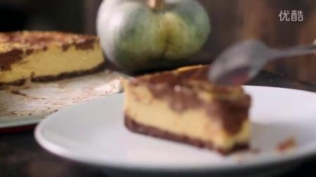 【大吃货爱美食】精致甜点——巧克力大理石纹南瓜奶酪蛋糕~160414