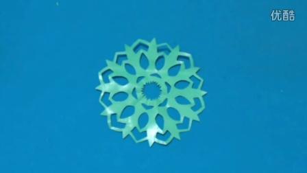 剪纸小课堂255:剪纸 仙人果叶 儿童剪纸教程视频大全 亲子手工DIY教