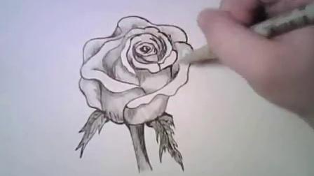 教你简单的画玫瑰_标清