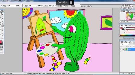 爱画画的苦瓜(下)在画画儿童画跟李老师学画画