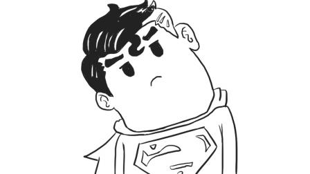 [小林简笔画]绘画超人头像歪脖子卡通可爱头像简笔画