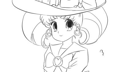 [小林简笔画]绘画美少女战士卡通简笔画教程