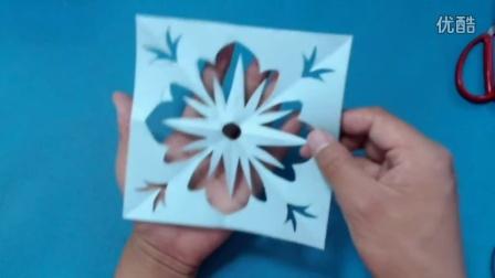 剪纸小课堂177:四方连续的花样剪纸 儿童剪纸教程视频大全 亲子手工