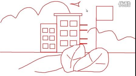 简笔画 我的学校