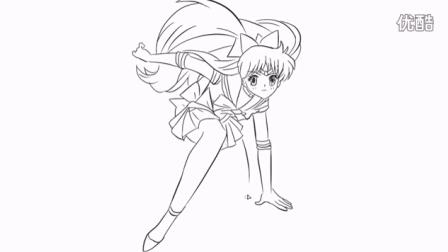[小林简笔画]如何绘画动画片《美少女战士》中的漂亮金星卡通简笔画教程