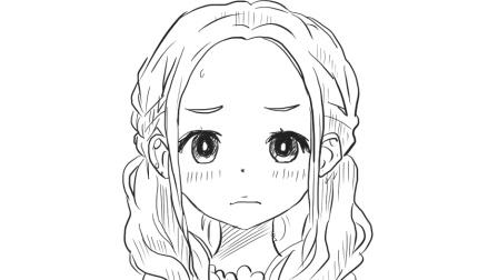 [小林简笔画]教你如何绘画可爱的小女生头像卡通简笔画教程