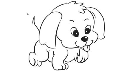 [小林简笔画]如何绘画可爱的泰迪狗儿童幼儿动物简笔画教程