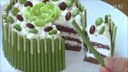 Matcha Pocky cake recipes 抹茶ポッキーケーキ レシピ