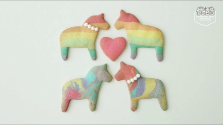 [Jennysta小吃货] 彩虹独角兽曲奇 Rainbow Unicorn Cookie