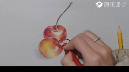 【艺达】彩铅零基础快速入门—写实樱桃教程