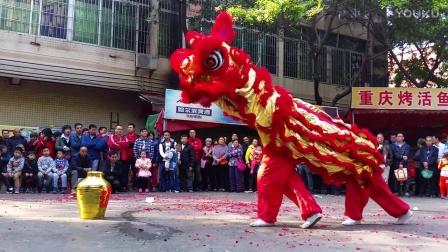 2017年大年初一-广州横滘村醒狮汇演贺新春-精彩醉狮表演 非常精彩