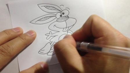 教你画卡通.小兔子的画法7