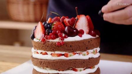 巧克力可可戚风裸蛋糕