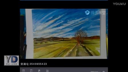 【艺达】彩铅手绘零基础入门教程—彩铅手绘风景